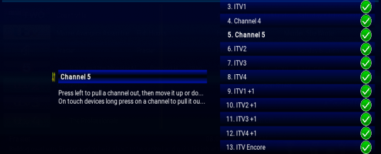 Rearrange/Remove Channels from iVue TV Guide